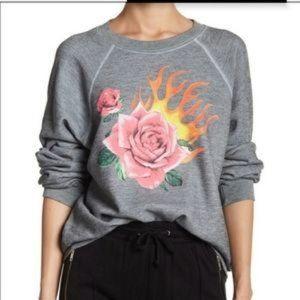 WILDFOX NWT Flaming Rose Graphic Sweatshirt Large